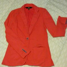 Pink boyfriend blazer Fun and flirty pink blazer. Supper comfortable it has all buttons in place the little stain on the back bottom of the jacket should come out with some Tide or even a good wash used to wear Adidas child every once in awhile but still in good condition! Mossimo Supply Co Jackets & Coats Blazers
