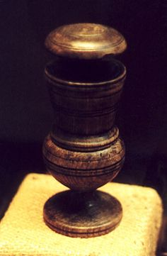 Pepper grinder from HMS Mary Rose which sank on 19 July 1545