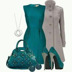 Verde y gris