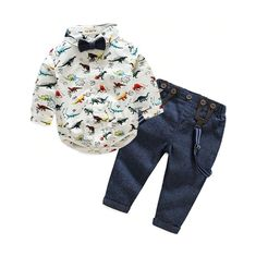 Top and Top Toddler Baby Boys Gentleman Clothes Sets Long Sleeve Romper+Suspenders Pants Wedding Party Casual Outfits Baby Boys, Baby Boy Suit, Baby Tie, Kids Boys, Baby Suspenders, Baby Boy Clothing Sets, Kids Clothing, Gentleman, Suspender Pants