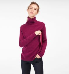 WOOL AND CASHMERE TURTLENECK SWEATER - New In - New In - Bosnia and Herzegovina - Massimo Dutti
