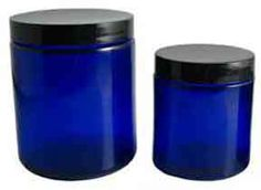 Cobalt Blue Glass Jars and a wide variety of other tins and containers that are perfect for homemade gift giving