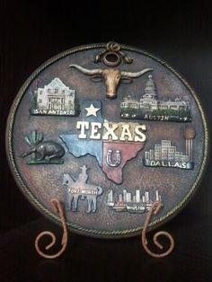 """""""All of Texas"""" on a fancy restaurant's door"""