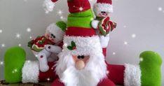 Blog voltado à artesanato em geral. Christmas Stockings, Christmas Ornaments, Patch, Snowman, Holiday Decor, Outdoor Decor, Blog, Diy, Home Decor
