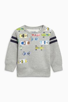 Buy Grey Printed Car Crew Sweatshirt (3mths-6yrs) online today at Next: United States of America