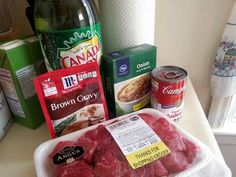 Great recipe for No Peek Beef Tips. so easy to make! family loved it beef tips No Peek Beef Tips Recipe by Andrea Beef Tip Recipes, Slow Cooker Recipes, Crockpot Recipes, Cooking Recipes, Beef Tips Recipe Oven, Crockpot Dishes, Yummy Recipes, Stew Meat Recipes, Quick Recipes