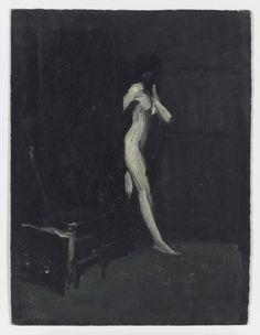 "kundst: "" Edward Hopper (US 1882-1967) Nude Walking Through Doorway (c. 1902) brilliant "" new realism"