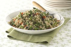 Try this Tuscan Brown & Wild Rice Recipe. Tossed with olives, asparagus and red peppers, this Tuscan Brown & Wild Rice Recipe makes one tasty dish! Kraft Foods, Kraft Recipes, Brown Wild Rice Recipe, Wild Rice Recipes, Brown Rice Salad, Wild Rice Salad, Healthy Living Recipes, Healthy Cooking, What's Cooking