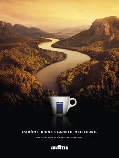 Print advertisement created by Armando Testa, Italy for Lavazza, within the category: Non-Alcoholic Drinks. Coffee Advertising, Clever Advertising, Display Advertising, Advertising Poster, Advertising Design, Advertising Campaign, Visual Advertising, Creative Poster Design, Ads Creative