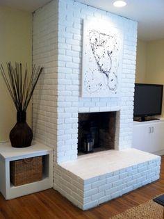 fireplace white brick