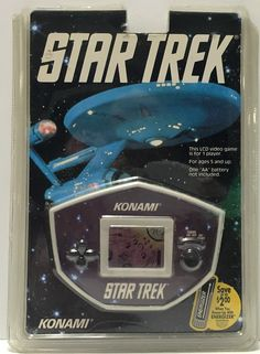 1992 Paramount Pictures Konami Star Trek LCD Handheld Video Game This item is NOT in Mint Condition and is in no way being described as Mint or even Near Mint. Our toys have not always lead the perfec Star Trek Video Game, Star Trek Games, Star Trek Merchandise, Handheld Video Games, Scary Monsters, School Videos, Paramount Pictures, Pinball, Nintendo Consoles