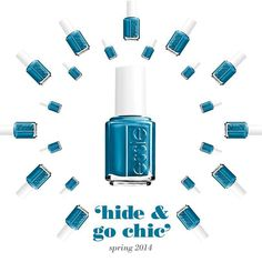Essie nail color in 'hide and go chic' Essie Nail Colors, Essie Nail Polish, Nail Polish Colors, Spring Colors, Beauty Makeup, Make Up, Nail Art, Nails, Chic