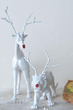 DIY Reindeer Animals // Camille Styles