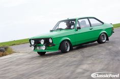 Cosworth YB turbo-powered Mk2 Escort Mexico. Photographed at Crail Raceway by Adrian Brannan