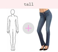 what to look for in a pair of jeans if you're tall
