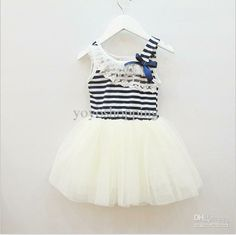 Wholesale up $199 Mix order EMS/FEDEX to AU/US/UK/FR/NL/CA girl tutu dress baby clothing Striped kids cotton lace dress,13APR106, Free shipping, $7.0/Piece   DHgate Mobile