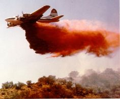 B17 fire bomber in action