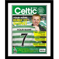 Personalised Celtic Magazine Front Cover  from Personalised Gifts Shop - ONLY £29.99