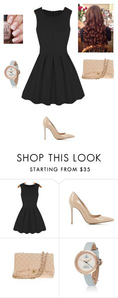 """""""Nude look"""" by maybeckc on Polyvore featuring Gianvito Rossi and Chanel"""