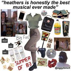 niche meme aesthetic heathers retro musical eighties Fashion Guys, Grunge Fashion, Fashion Models, Fashion Outfits, Retro Outfits, Grunge Outfits, Vintage Outfits, Cool Outfits, Aesthetic Fashion