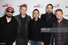 Singers A. J. McLean, Nick Carter, Howie D., Kevin Richardson and Brian Littrell of the Backstreet Boys attend 103.5 KISS FM's Jingle Ball 2016 at Allstate Arena on December 14, 2016 in Rosemont, Illinois.