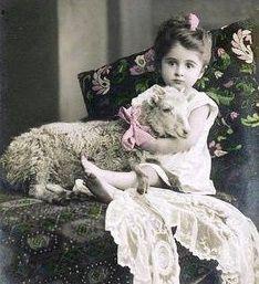 Vintage Children Photos, Vintage Pictures, Old Pictures, Vintage Images, Old Photos, Lamb Pictures, Antique Photos, Vintage Cards, Vintage Postcards