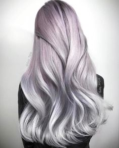"""guy tang pearl hair Oh, @guy_tang. Giving us all the feels with this one! Created using @guytang_mydentity Silver Smoke and Dusty Lavender demo colors, with #Olaplex every step of the way of course. Guy's Tip: """"Remember #HairBesties, the purist silvers have to be on a level 10 clean canvas!"""