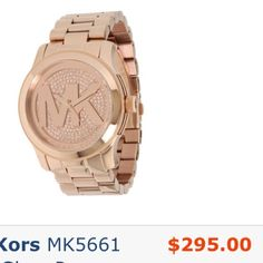 Michael Kors ROSE GOLD watch Michael Kors watch in rose Gold. It has had about two links taken out, but I may still have them. This watch was worn and loved, but is in great condition. Normal wear and tear but no major damage. I will post more pics later. Come with box. Selling on zappos right now for 295 + tax! Absolutely NO TRADES, please do not ask. Michael Kors Accessories Watches