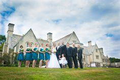 Wedding photography; pittsburgh wedding photography; bridal party posing; hartwood acres