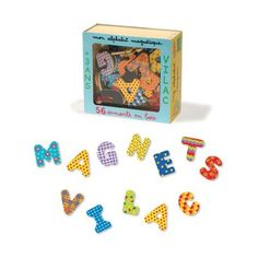 Vilac Set of 56 Alphabet Magnets