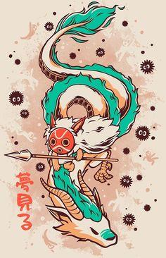 'The Princess and the Dragon' by Ilustrata Design Japanese Dragon, Japanese Art, Art And Illustration, Art Sketches, Art Drawings, Vexx Art, Studio Ghibli Art, Skateboard Design, Ghibli Movies