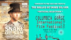 Congrats to the Cast and Crew of #indiefilm The Ballad of Snake Oil Sam! We are an Official Selection of the Columbia Gorge International Film Festival! Our film festival journey sling shots to the Pacific Northwest! #CGIFF2015 #theballadofsnakeoilsam #femalefilmmakers #indiefilm #desert #steampunk #fantasy #westindiangirl #joshuatree #pacificnorthwest #filmlife