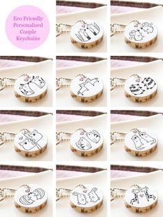 ahh, love the fox couple keychain!