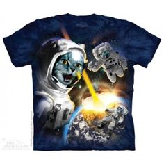 First, there was the Krakitten Kitten Kraken, and now this: The Cataclysm Cat Astronaut t-shirt! A unique shirt for the crazy cat person in your life! Available in sizes small to XXXXX-large. [The Mountain Cataclysm Cat Astronaut Adult T-shirt] Bag Women, Thing 1, School Bags For Girls, Mountain Man, Mountain Shirts, Band Shirts, Cat Design, Aliens, Cats And Kittens