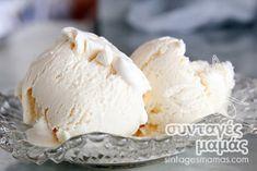 Παγωτό βανίλια Gelato, Sweet Tooth, Food And Drink, Ice Cream, Cheese, Desserts, Marmalade, No Churn Ice Cream, Tailgate Desserts