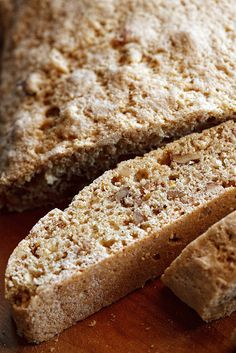 Healthy Biscotti by ivoryhut:  No butter or oil, healthy nuts, and a mere 53 calories per cookie. #Biscotti #Healthy
