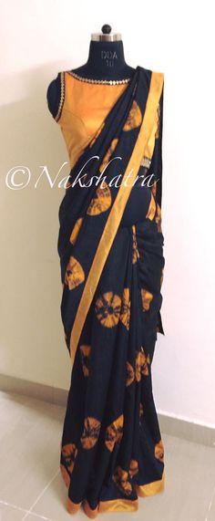 Stylish yet a regular wear piece Saree Blouse Designs, Blouse Patterns, Indian Attire, Indian Wear, Indian Dresses, Indian Outfits, Saree Dress, Sleeveless Saree Blouse, Simple Sarees