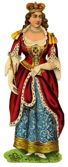Vintage Graphic - Young Queen Victoria - Regal Outfit - The Graphics Fairy