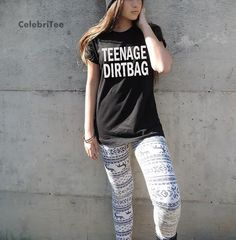 Teenage Dirtbag T-Shirt One Direction T Shirts, One Direction Outfits, Grunge Fashion Soft, Fasion, Fashion Outfits, Tumblr T Shirt, Teenage Dirtbag, Tumblr Outfits, Tumblr Fashion