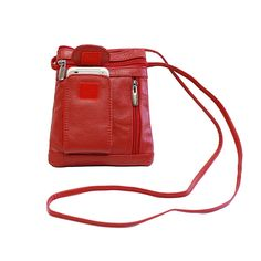 Unisex Genuine Leather On-the-Go Cross-Body Bag