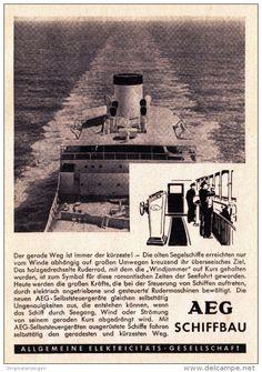 Original-Werbung/ Anzeige 1957 - AEG SCHIFFBAU - ca. 115 x 155 mm