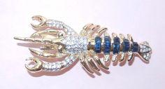 Lobster Sapphire Emerald Diamond Fashion Jewelry Pin Brooch | eBay