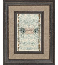 Mixed Company 4x6 Linen Frame with Brown Trim, , hi-res