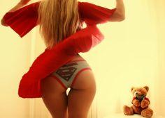 Supergirl is teasing us. #panties #superman #ass #tease