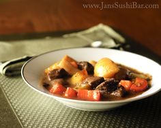 Autumn Beef Stew by @JansSushiBar #AIPaleo (no potatoes)