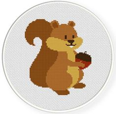 FREE for March 30th 2014 Only - Squirrel Cross Stitch Pattern