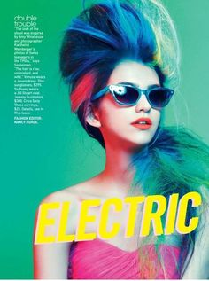 An Amy Winehouse-Inspired Editorial from Teen Vogue March 2012 #hairstyles trendhunter.com