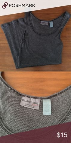 Gray Michael Stars Tank Excellent condition tank. Lots of stretch. Gray with subtle sparkle. Michael Stars Tops Tank Tops