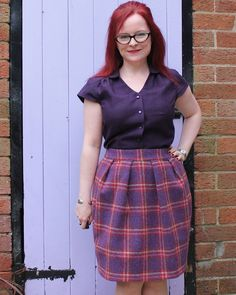 Sew Over It Tulip Skirt Sew Over It Patterns, Skirt Patterns Sewing, Skirt Sewing, Librarian Style, Tulip Skirt, Tartan, Tulips, Tweed, About Me Blog