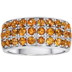 Sterling Silver Citrine Ring ($240) ❤ liked on Polyvore featuring jewelry, rings, orange, citrine jewelry, sterling silver jewellery, sterling silver citrine ring, orange citrine ring and orange ring